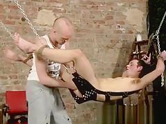 Bondage shirtless man speedo stories hanging there tied...