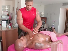 Hot body massage with gay studs...