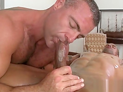 Blowing a huge afro pecker with lust...