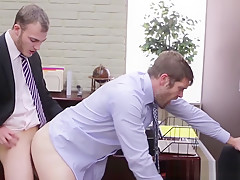 Quick gay office...