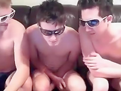 Three boys suck on each other mouth big...