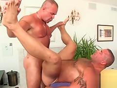 Straight stud having hardcore anal sex with masseur...