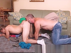Fucked raw by a hairy daddy bear...