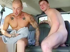 Getting blowjob from gay excited to be on...
