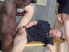 Cops take black suspect to the locker room...