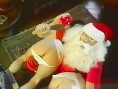 Santa spanks two tight jeaned burglar boys...