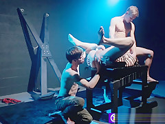 Bdsm threesome with two kinky big dicked studs...