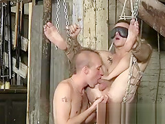 Bondage dude is in desperate need but he...
