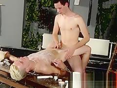 Virgin bondage nude gays boys tube splashed with...