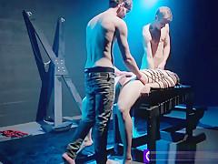 Amateur kinky straight hunk barebacks two gay friends...