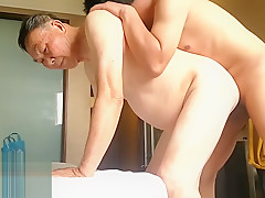 China young sons bisexual fun with old daddy...