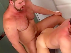 Gay young bears kiss naked bedroom and dad...