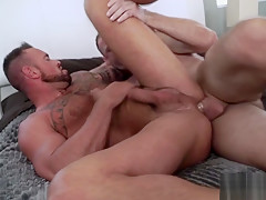 Mature married guys meet in hotel for...