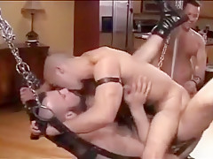Gay orgy with...