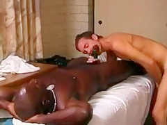Masseur pounds his clients...
