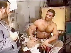 Cuban works out a huge dick of his...
