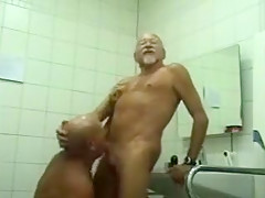 Mature gay men toilet...