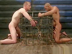 Bound guy gets his anus licked part3...
