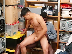 Straight asian twink caught shoplifting black...