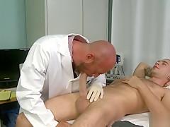 Doctor treats cock...