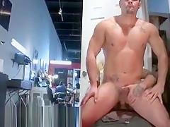 Male public masturbating...