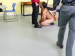 Jock sucked off before threeway...