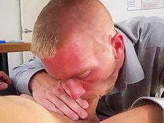 Hot gay sex clip keeping the boss happy...