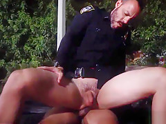 A cop gets fucked by young stud jail...