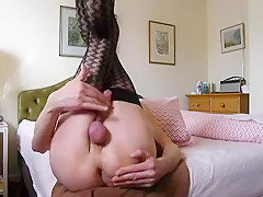 Stockings cums hard...