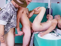 Military caught having and army men wanking off...