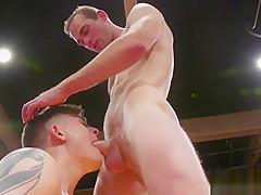 Wrestling gay deepthroating jocks dick...