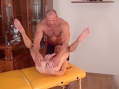 Gets cockteased by his masseur...