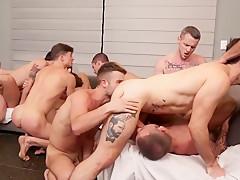 Gangbang between sex stars porn...