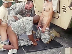 Military men with long cocks and soldiers fucking...