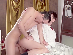 Young altar boy obeys Father and gets ass banged hard