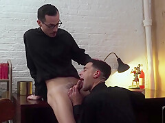 Priest gets ass fucked by his partner hardcore bareback