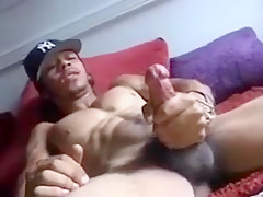 Very exciting hunk showing off...