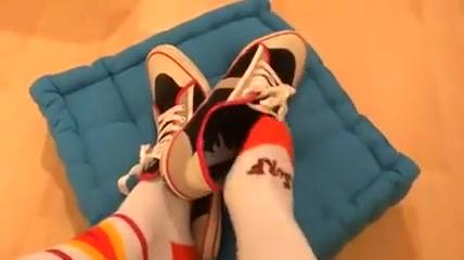 Sport-Socks. Huge tied up tits