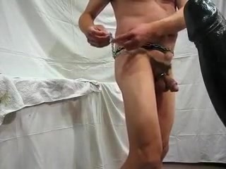 Chains around my ass and fucking a gian dildo Part I Facetime phone sex in Barranquilla