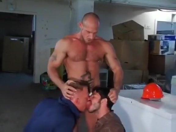 Basement fuck with double team Redhead tits green eyes