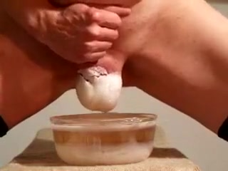 Bowl of Hot Wax and my balls Double dick in anal