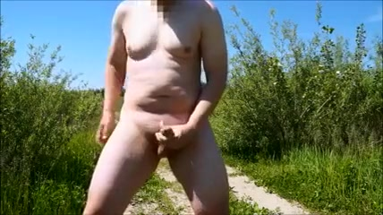 Wanker is jerking off publicly on the road free porn from asia