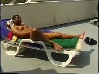 Jerking in the Sun Interracial cum slut wife