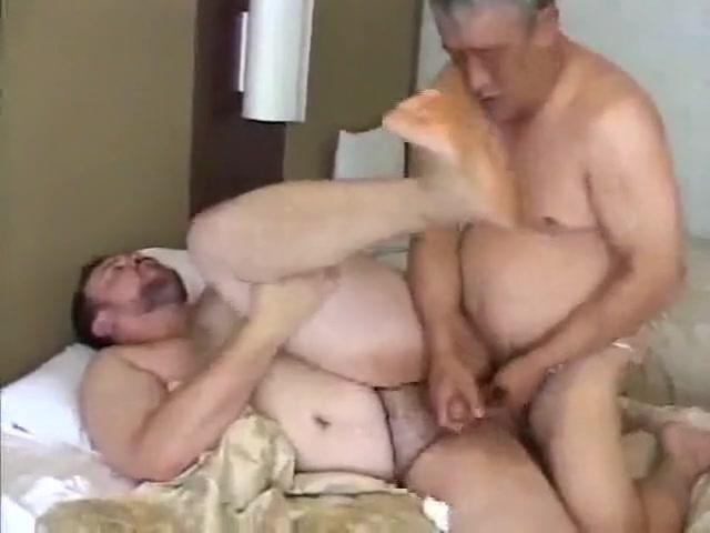 Fat Japanese guys fuck naked girls riding snowmobiles