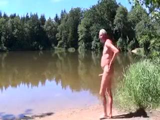 03.07.2014 Nacktwandern zum Weiher Deep throat sucker