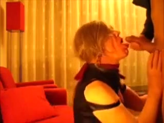 Lara tranny getting fucked and swallowing Mature Busty Wife