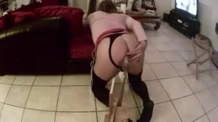 crossdresser with fucking machin part 1 Lesbian teacher porn