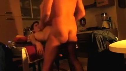 Loud fuck on the table Nasty Black Cum Shots