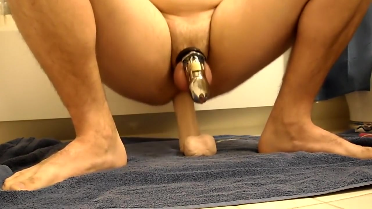 Riding my dildo in CB6000 indian big tits boobs video