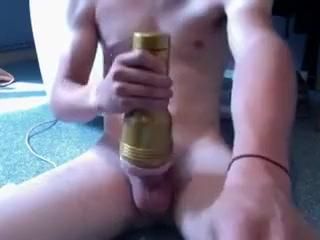 Fleshlight STU black gay man haveing sex